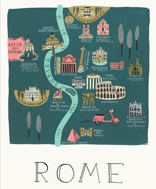 Mapa de roma_ilustração